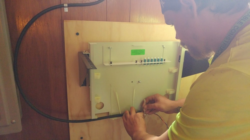 medium resolution of duda cable tech installing a fiber patch panel