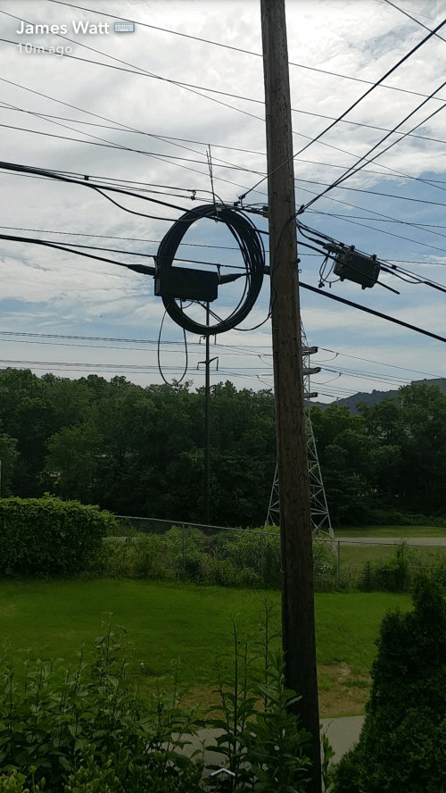 small resolution of fiber on the pole on my street