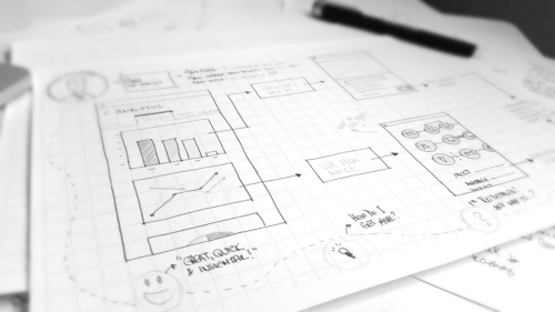 small resolution of example of how a sketch can help communicating the concept and the navigation