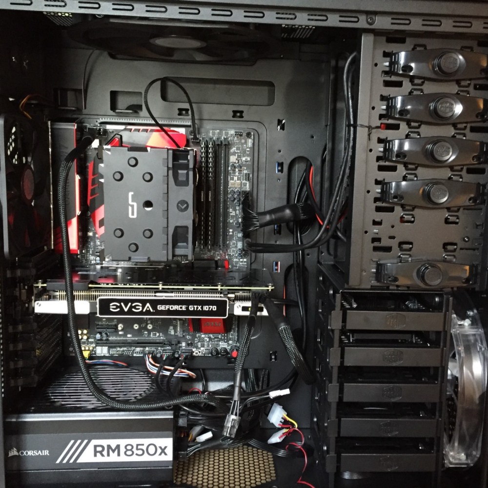 medium resolution of completed build including gpu
