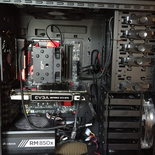 small resolution of completed build including gpu