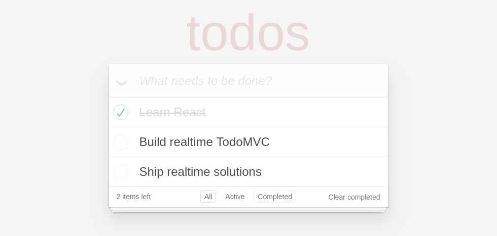 Building a realtime TodoMVC app with ReactiveSearch and