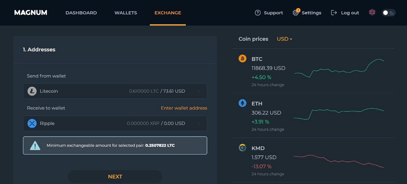 Select the cryptocurrencies