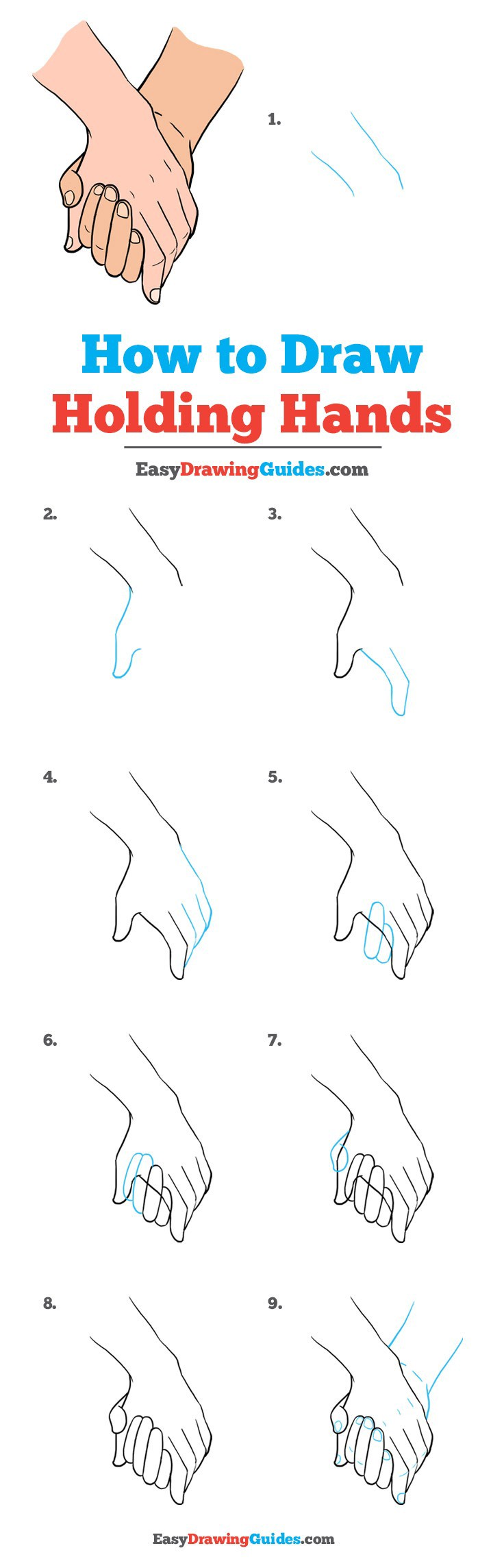 Drawing Holding Hands : drawing, holding, hands, Holding, Hands, Howto, Techno