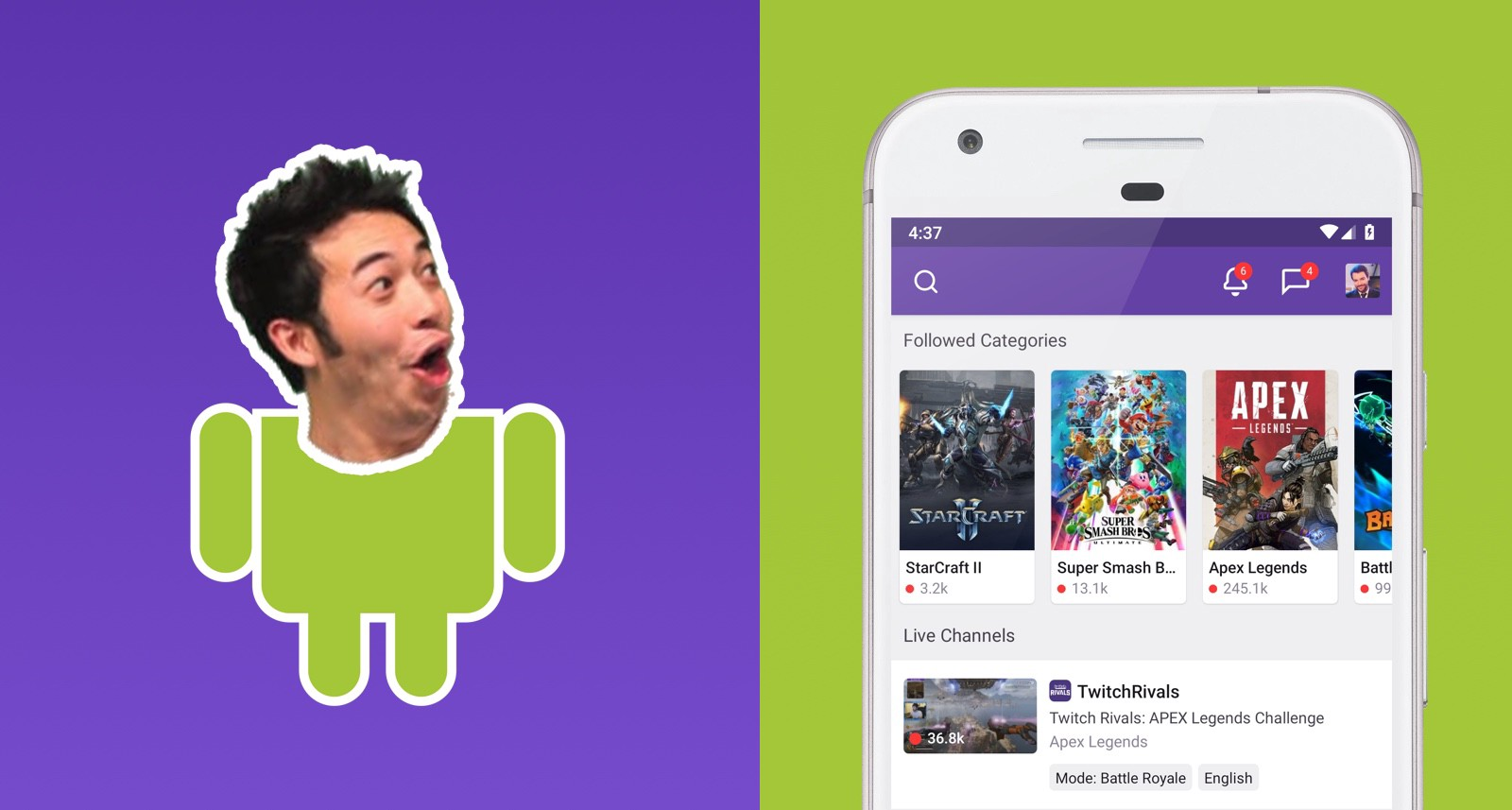 twitch for android from