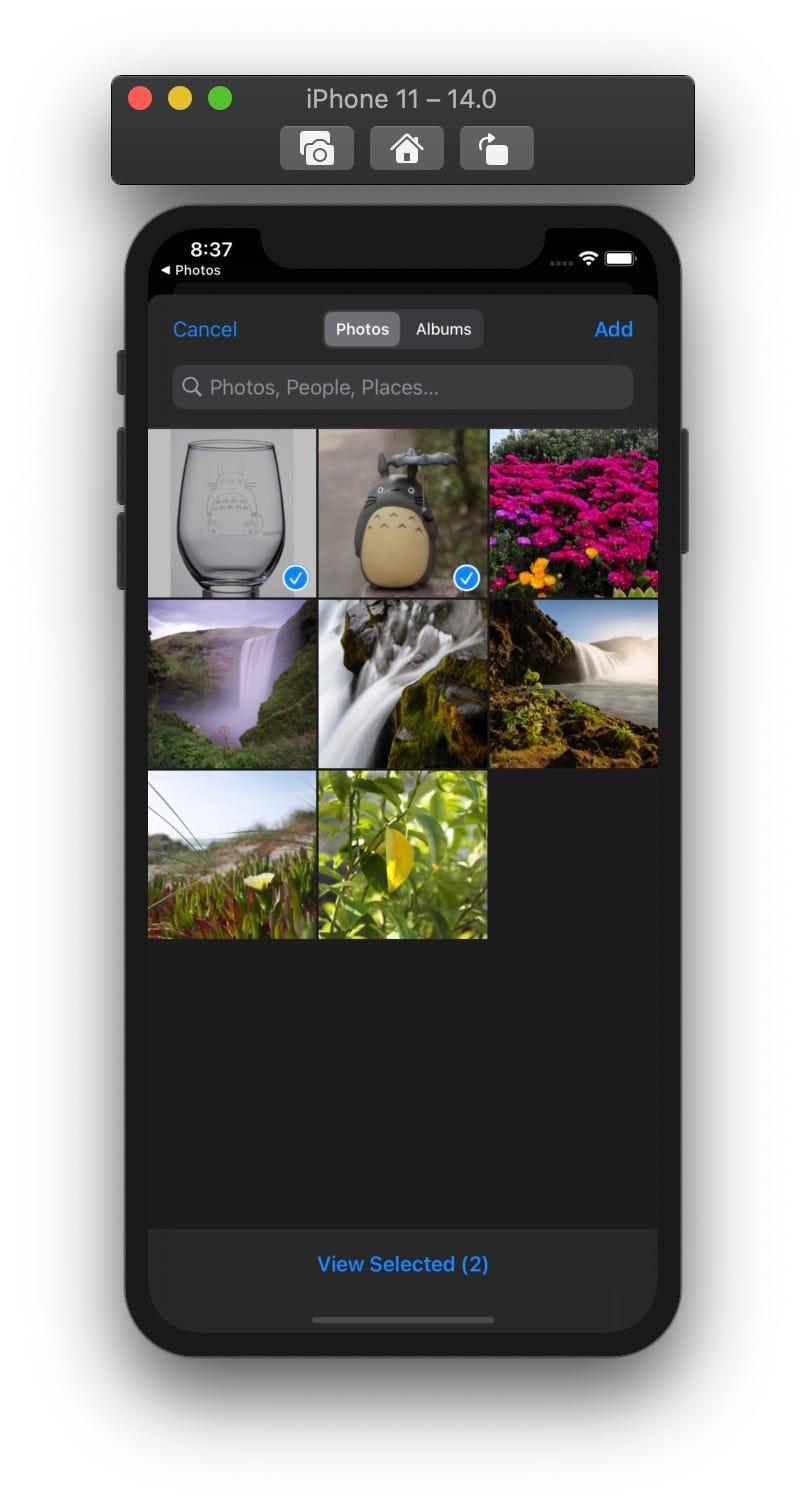 iOS 14 提供多選照片功能的 PHPickerViewController | by 彼得潘的 iOS App Neverland | 彼得潘的 Swift iOS App 開發問題解答集 ...