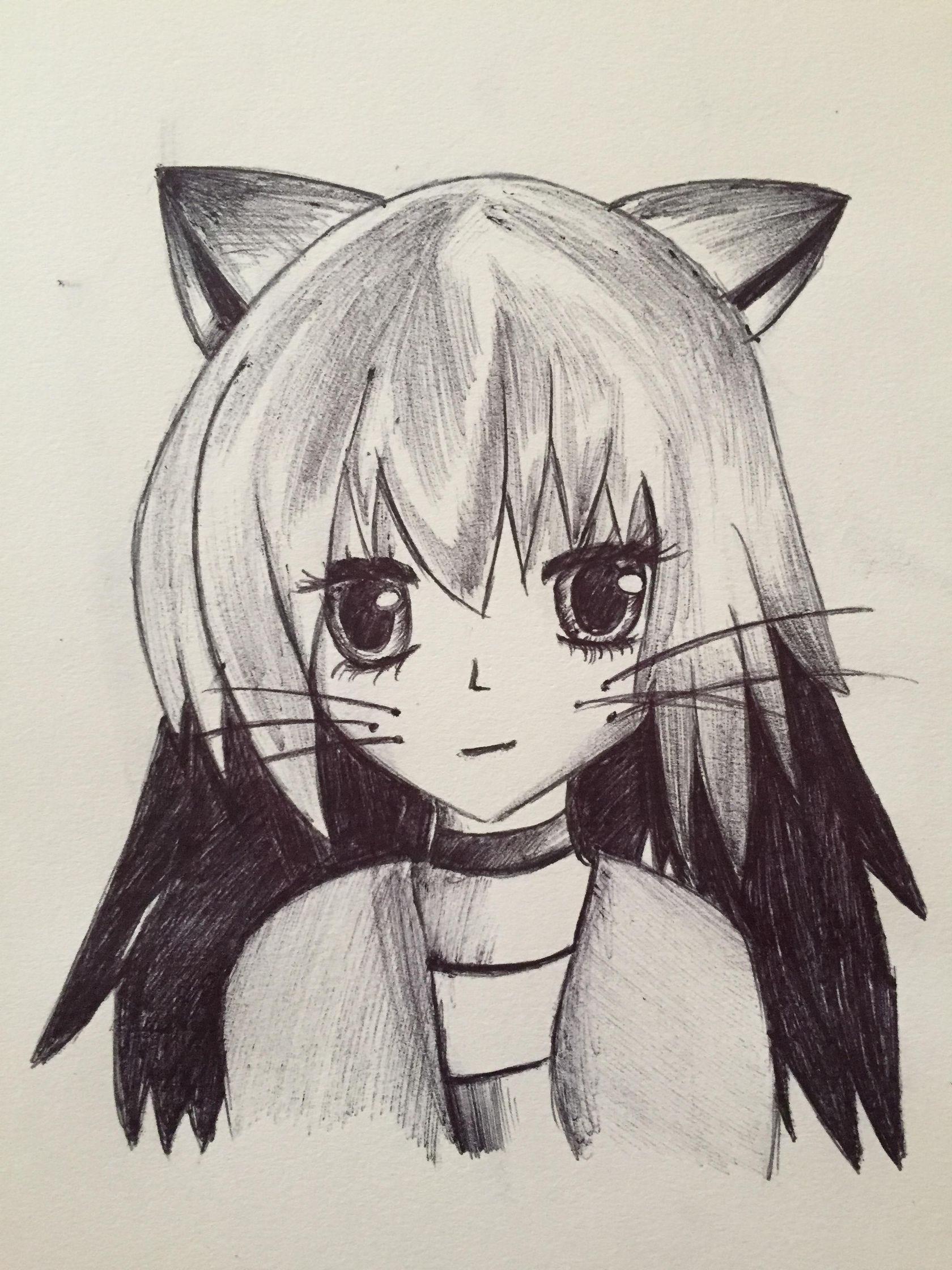Cat Drawing Anime : drawing, anime, Anime, Drawing, (Original, Kaylin), KaylinArt, Medium