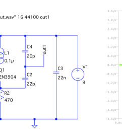 circuit diagram drawn in ltspice with corresponding tran waveform [ 1838 x 804 Pixel ]