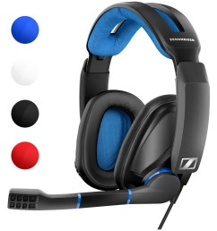 overview sennheiser s gsp 300 is a 99 wired gaming headset available in a few different colors  [ 1312 x 1312 Pixel ]