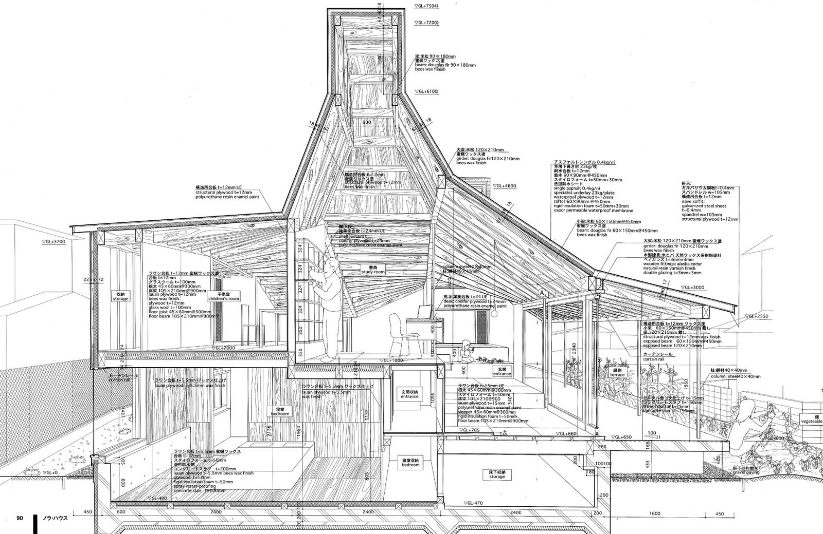 hight resolution of examples of atelier bow wow s architectural drawings