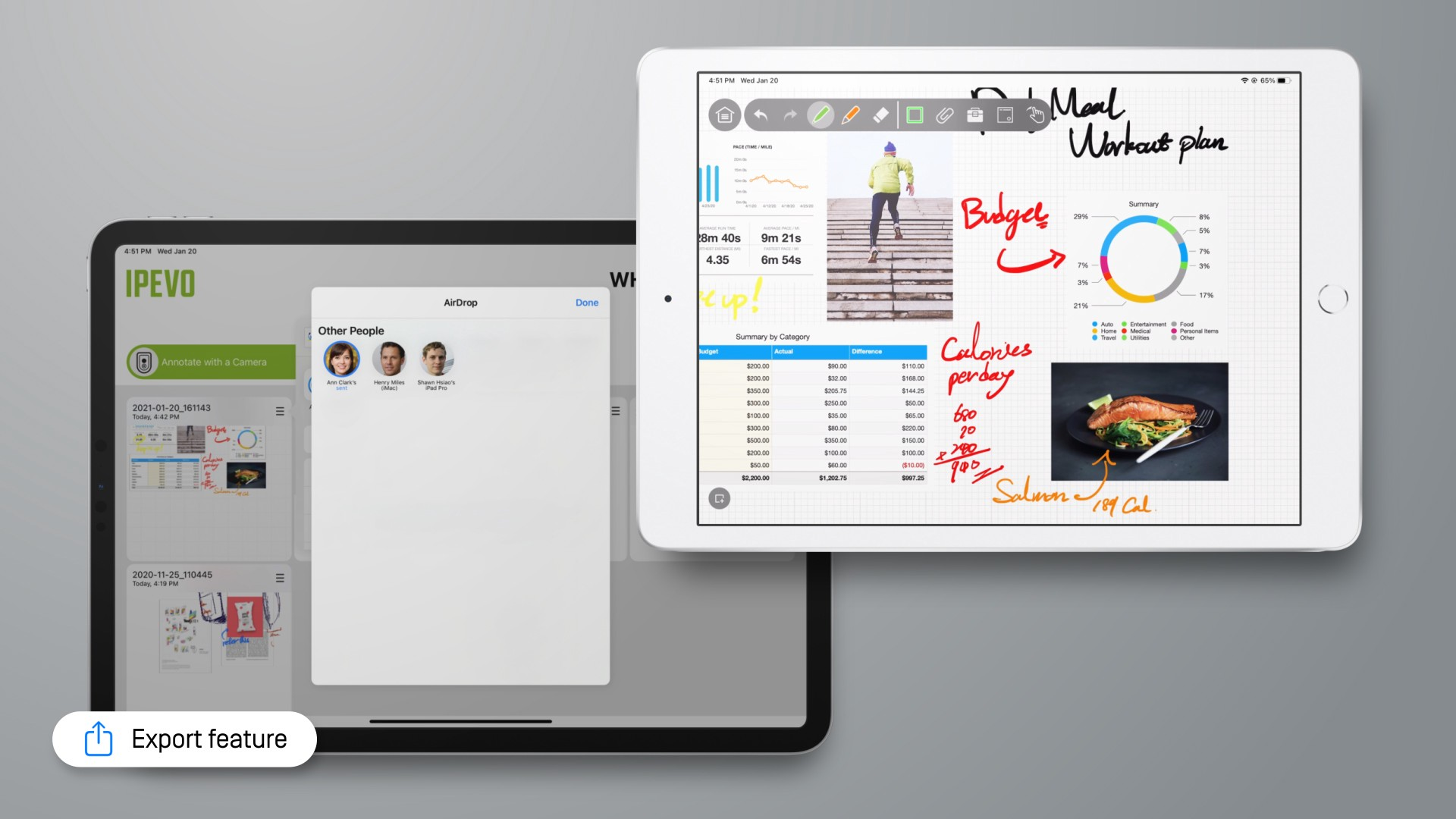 Export and share whiteboard projects