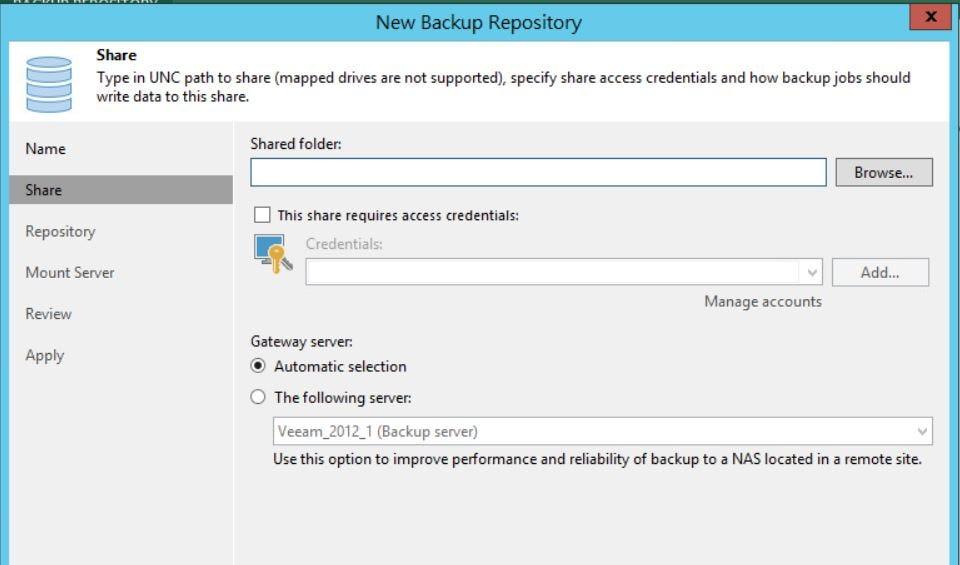 使用 Veeam 9.5 來備份 ESXi 的虛擬機 _設定備份儲存空間 - MIS 日記 - Medium