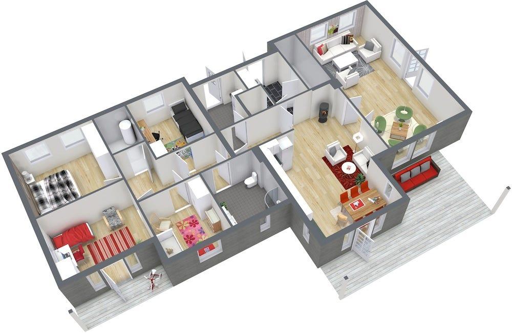 Interior Design 4 Bedroom House By Putra Sulung Medium