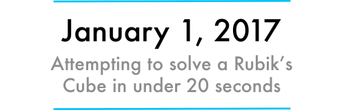 small resolution of it s january 1st today which means it s time to start a new challenge this month my goal is to solve a rubik s cube in under 20 seconds