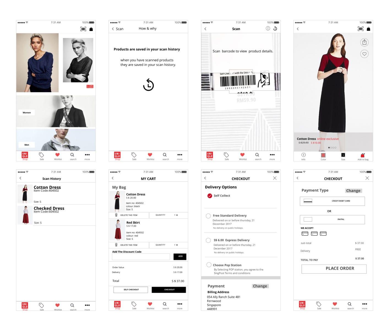 UI/UX Case Study: Mobile Self-Checkout App Design Concept