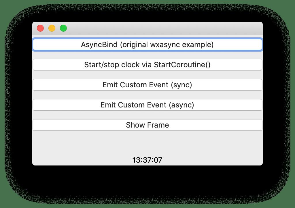 Async/await for wxPython. Python 3 GUI apps with asynchronous… | by Andy Bulka | Medium