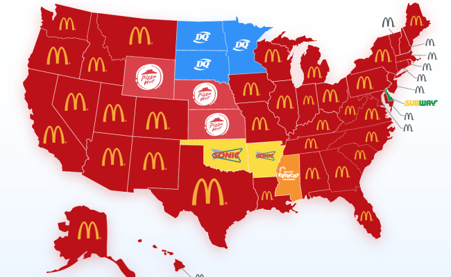 Fast Food Chains With The Most Locations Per State 2 Most Popular Restaurant Will Surprise You