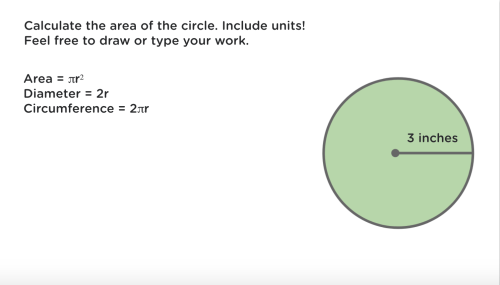 small resolution of A Classkick Assignment: 7th Grade Math — Area of Circles   by Classkick  Blog   Classkick