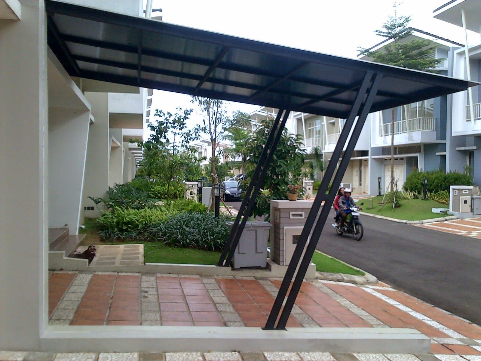 kanopi baja ringan untuk rumah minimalis contoh desain dengan terbaru 2019