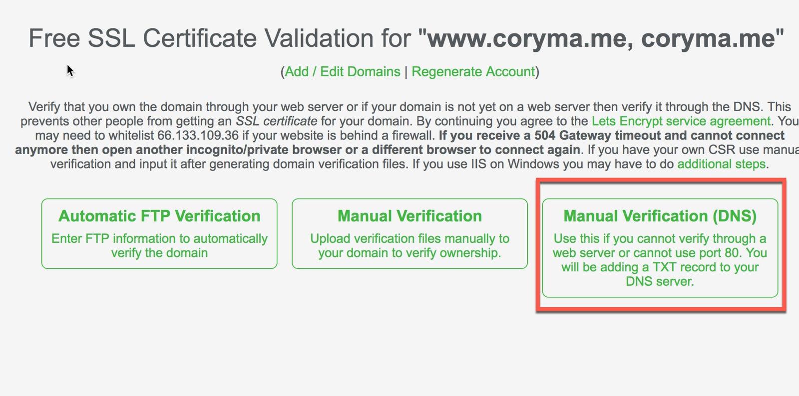 如何申請免費SSL憑證讓NGINX 加入 HTTPS 支援 - Cory Ma - Medium