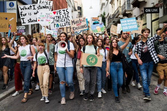 Young Greeks Take to Streets in Global Climate Protest   by AthensLive News   AthensLive   Medium