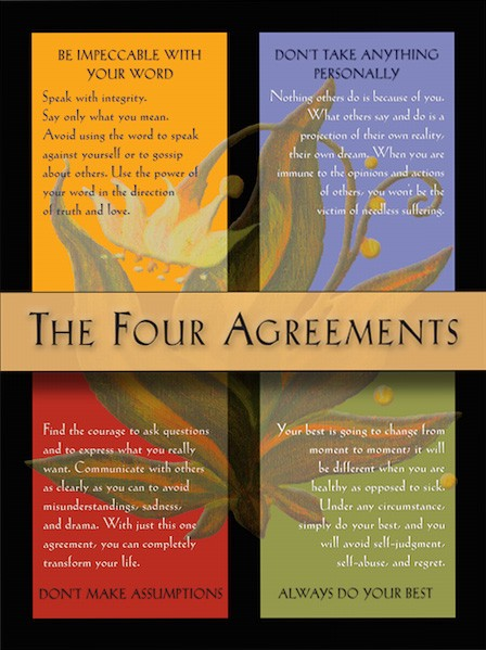writing i love the four agreements