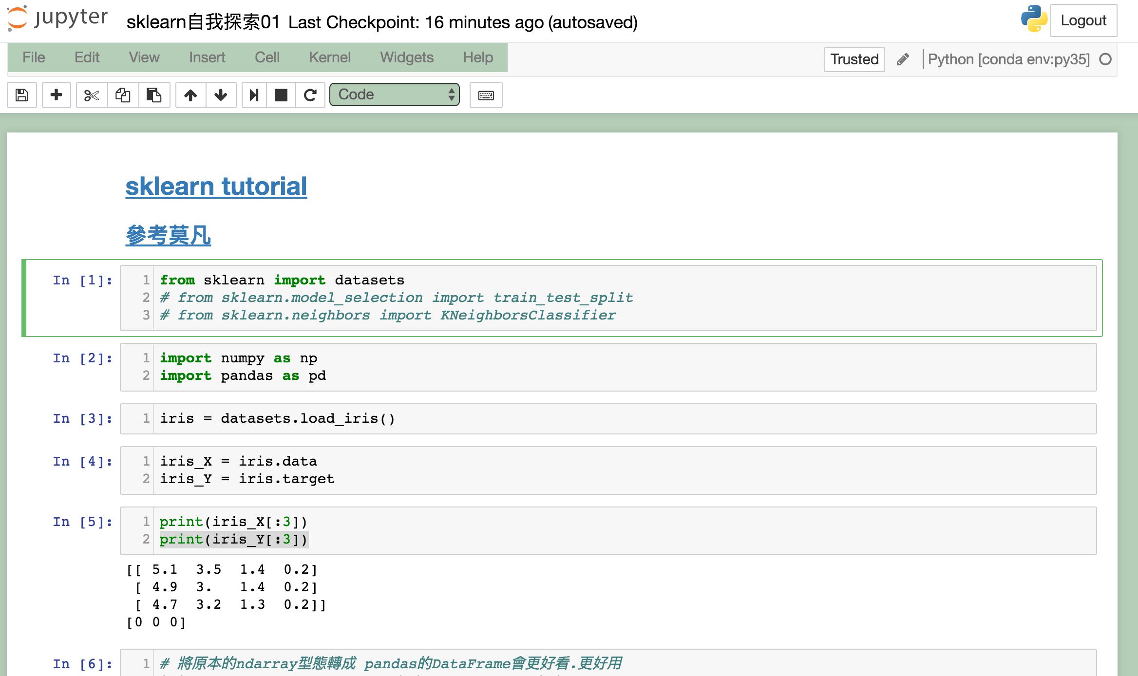 將Jupyter Notebook複製到Gist上. 確認你要複製的.ipynb檔(此例: sklearn自我探索01) | by Cool懶惰學 | Medium