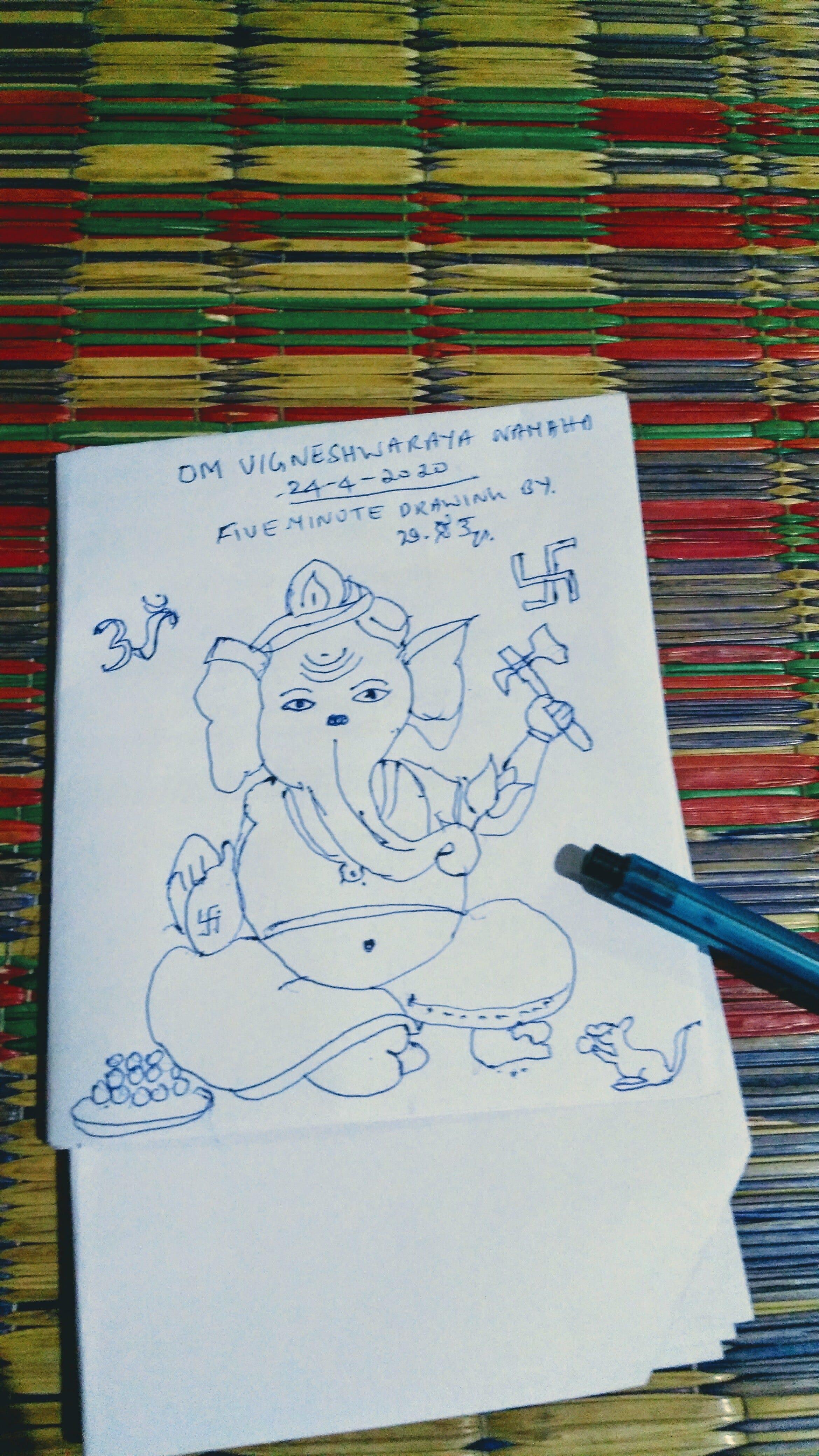 Lord Ganesha Drawing In Five Minutes By Yogish Sathya Medium