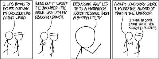 Comic about debugging skills. It is important!