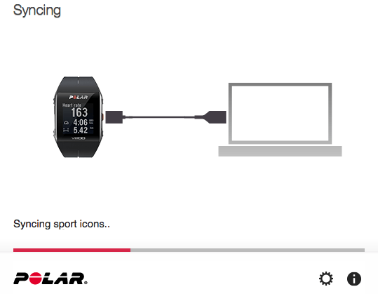 V800 and Polar Flow syncing
