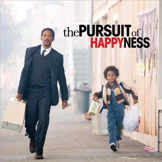 खुशी का पीछा करना एक विकल्प है;  फ़िल्म परस्यूट ऑफ़ हैप्पीनेस से |  काम केल्सन द्वारा |  मध्यम