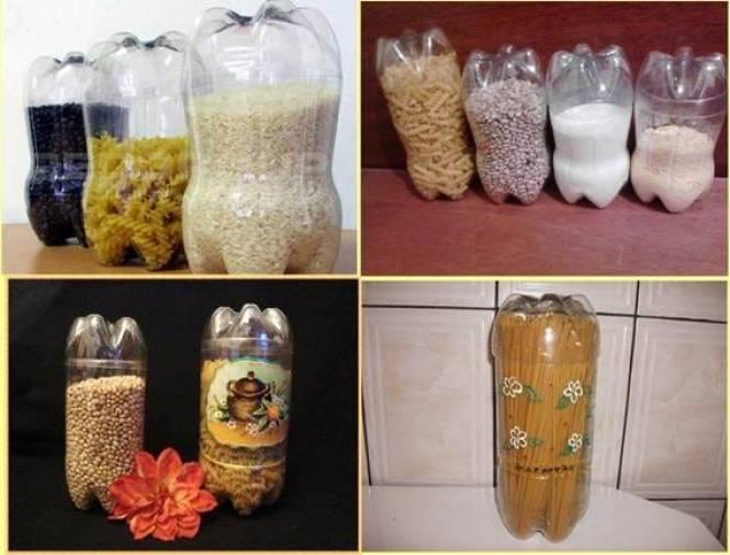 Kerajinan Tempat Menyimpan Makanan Dari Botol Bekas