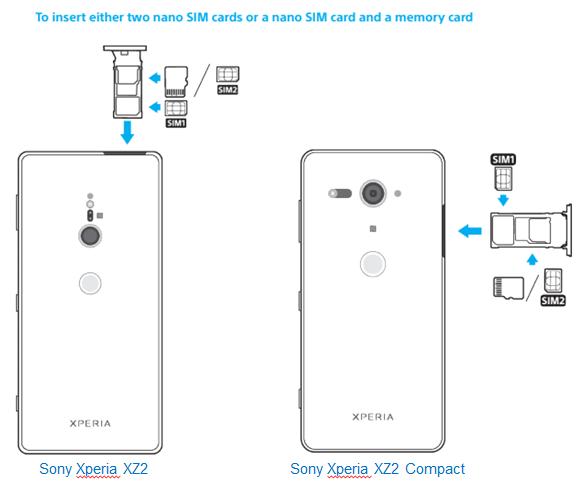Sony Xperia XZ2 and XZ2 Compact come with hybrid SIM trays