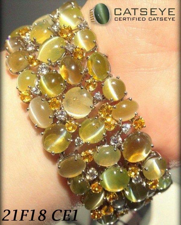 Cats Eye Jewelry : jewelry, Bracelet., Gorgeous, Cat's, Chrysoberyl, And…, Gemstone, Medium
