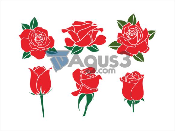 Red Rose Bunga Mawar Merah Vector Cdr By Brotherid Team Medium