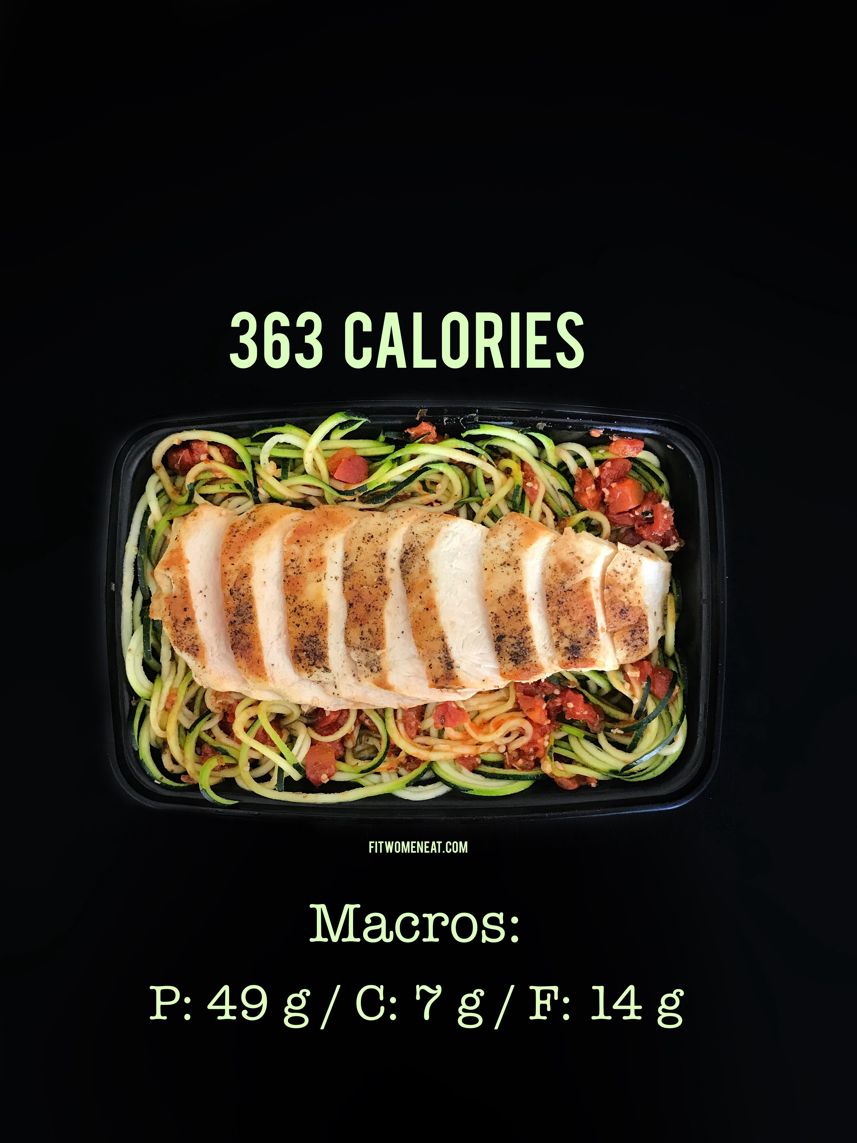 Macros For Chicken Breast : macros, chicken, breast, Zoodles, Tomato, Oregano, Sauce, Grilled, Chicken, Breast, Women
