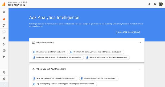 Google Analytics AI