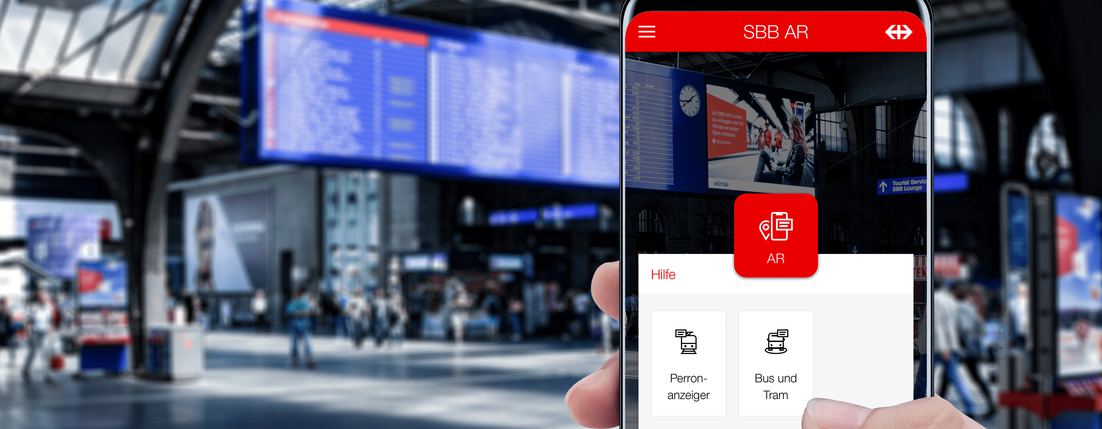 New Augmented Reality App makes largest Swiss Train Station fit for the future