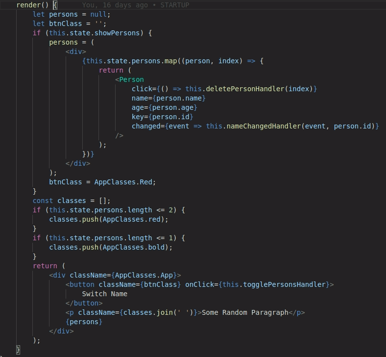 Project Structure For React