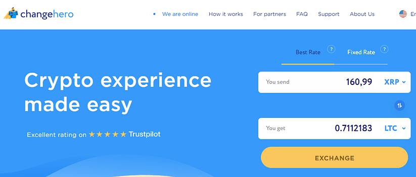ChangeHero homepage