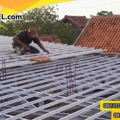 Rangka Baja Ringan Atap Miring 082310096644 Sepatan Jasa Pemasangan Murah