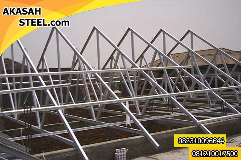 harga baja ringan per meter terbaru 082310096644 pinang jasa pemasangan rangka atap murah