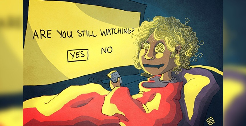 how binge watching tv