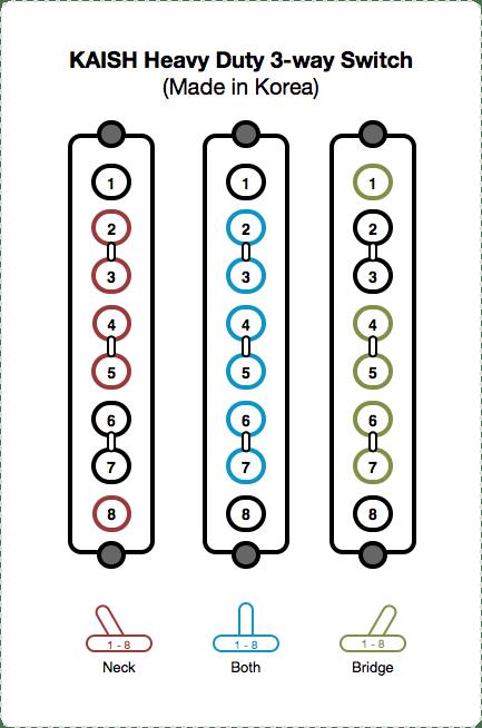 kaish heavy duty 3way switch diagram and instructions