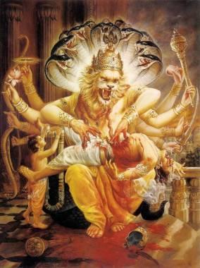 LORD NARASIMHA is the fourth incarnation of Lord Vishnu.
