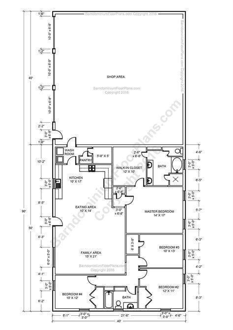 40x60 Pole Barn House Plans. 40x60 Pole Barn House Plans