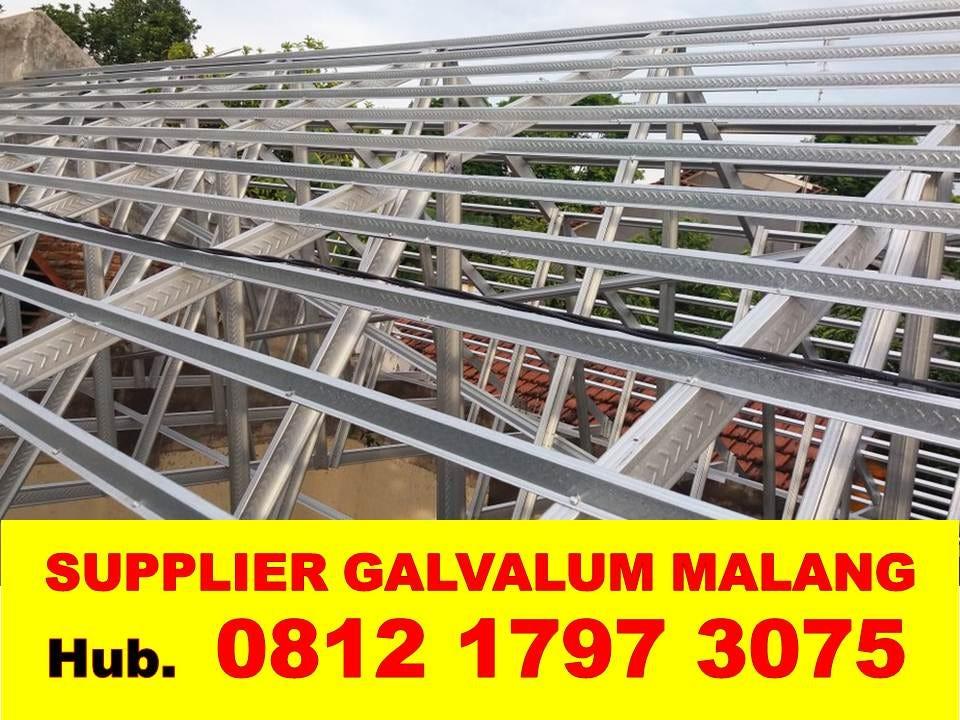 harga rangka atap baja ringan di malang galvalum murah jual dan jasa renovasi