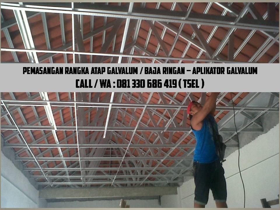 atap rumah baja ringan atau kayu call wa 0822 348 60 166 tsel pasang galvalum pasuruan