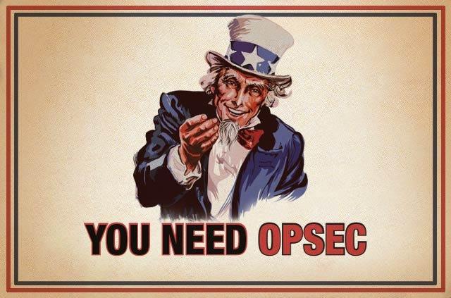 Sweet OpSec.