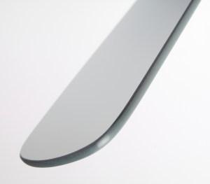 miroir photo chrome buccal double face grand format